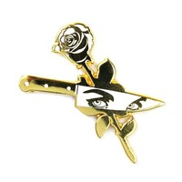 Rose Knife Pin