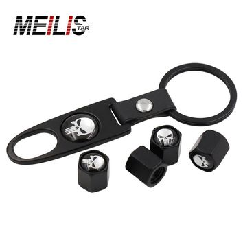 4pcs black skull air wheel cover 4 / pack tires hat and key holder multi-style anti-theft bike and body auto parts car styling