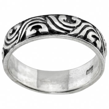 Haven Park Sterling Silver Wave Design Ring   Overstock.com Shopping - The Best Deals on Sterling Silver Rings