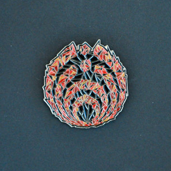 "Bassnectar ""Fire - SpaceNectar"" Hat Pin"