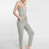 Express One Eleven Surplice Jumpsuit