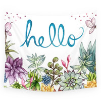 Society6 Hello Spring Wall Tapestry