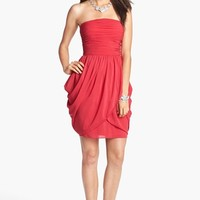 Aidan by Aidan Mattox Draped Fit & Flare Dress