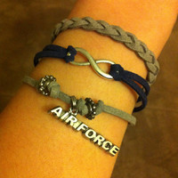 Triple Cord Air Force Bracelet