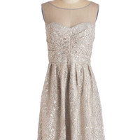 ModCloth Sleeveless A-line Frost and Found Dress