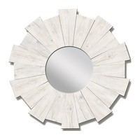 White Burst Mirror
