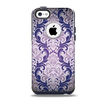 The Royal Purple Laced Wallpaper Skin for the iPhone 5c OtterBox Commuter Case