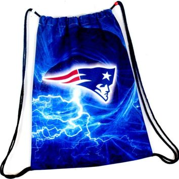 New England Patriots Drawstring Bags Men Backpack Digital Printing Pouch Customize Bags 35*45cm Sports Fan Flag