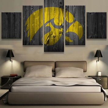 Iowa Hawkeyes College Football Barn Wood style (not actual barnwood)