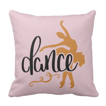 Dance. Ballerina. Throw Pillow