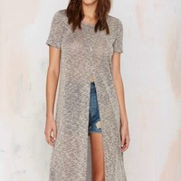 Cross In Maxi Tee - Heather Gray