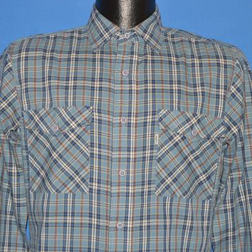 80s Levis Plaid Button Down Men's shirt Small