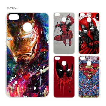 Deadpool Dead pool Taco BINYEAE Super SuperMan Iron Man  Transparent Case Cover for Xiaomi Redmi 6 6A Pro Note 4 4X 5 5A Plus S2 Mi A1 5X AT_70_6