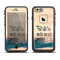 The Pastel Sunset You Cant Fly Unless You Let Yourself Fall Apple iPhone 6/6s Plus LifeProof Fre Case Skin Set