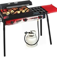 Camp Chef SPG-90B Big Gas 3 Sports Grill, Black/Red