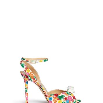 CHARLOTTE OLYMPIA - 'Sophia' skull charm floral print sandals | Multi-colour Sandals High Heels | Womenswear | Lane Crawford - Shop Designer Brands Online