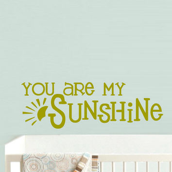 rvz900 Wall Vinyl Sticker Bedroom Decal Words Sign Quote You Sunshine Sun Nursery Kids Baby