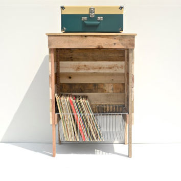 Reclaimed Storage/Record Player Stand