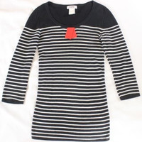 "~~~ FRENCH GIRL! ~~~ SONIA BY SONIA RYKIEL ""STRIPED"" SWEATER/KNIT TOP ~~~ S"