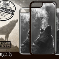 Wolf Howling Photo iPhone 5S 5C 6/6S Case and Galaxy Custom Personalized Case Cover