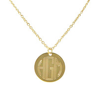 Monogrammed Necklace Silver or Gold
