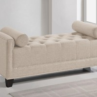 Baxton Studio Hirst  Light Beige Bedroom Bench Set of 1