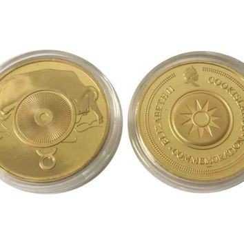 Rare Zodiac Taurus Poker Guard Chip Commemerative Coin Free Acrylic Capsule