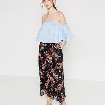 LONG PRINTED SKIRT - Midi-SKIRTS-WOMAN | ZARA United States