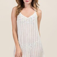 Isla Crochet Tank Dress Cover-up