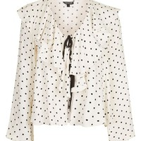 Topshop Polka Dot Bed Blouse (Regular & Petite) | Nordstrom