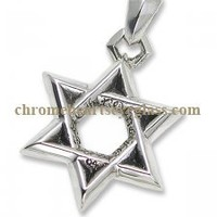 Cheap Chrome Hearts Star Of David Silver Pendant [Star Of David Silver Pendant] - $185.00 : Chrome hearts online shop:chrome hearts jewelry 2012 collection!