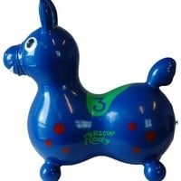Gymnic / Racin' Rody Inflatable Hopping Horse, Blue