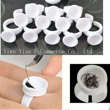 100pcs Small Size Disposable Permanent Makeup Ring No Divider Tattoo Ink Eyebrow Lip tattoo Pigments Holder Rings Container Cup