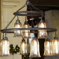 Brantley Mercury Glass Chandelier