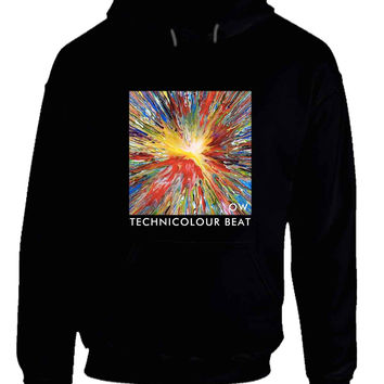 Oh Wonder Technicolour Beat Crop OW Hoodie