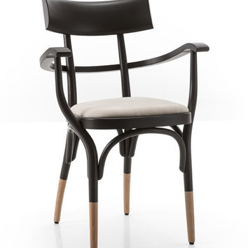 Czech Bentwood Armchair (Upholstered) by GTV