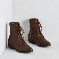 Military Trek Yourself Boot in Acorn by ModCloth