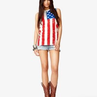 Studded American Flag Muscle Tee | FOREVER 21 - 2042008222