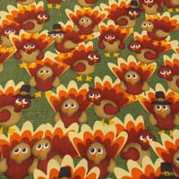 Thanksgiving Fabric Tom Turkey Turkey Fabric Holiday Fabric Table Runner Fabric Tablecloth Fabric Placemat Fabric Quilting Fabric