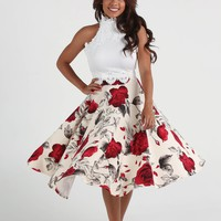 Belle White Circle Skirt