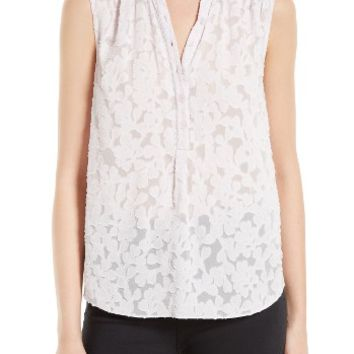 Rebecca Taylor Ivy Vine Clipped Jacquard Top | Nordstrom
