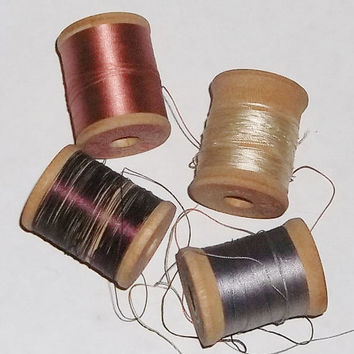 Vintage Wood Spool Belding Silk Thread