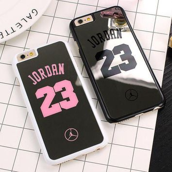 CREYUG7 NBA brand Michael Jordan 23 Case For iPhone 6 6 Plus 5 5s SE Hard Mirror Phone Case Co