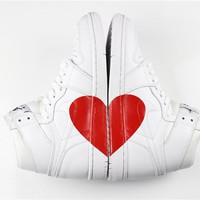 "Air Jordan 1 Custom ""LOVE"" Men Women Basketball Shoes Sneaker"