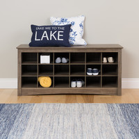 PREPAC Grey Wood Cubby Bench | Overstock.com Shopping - The Best Deals on Benches