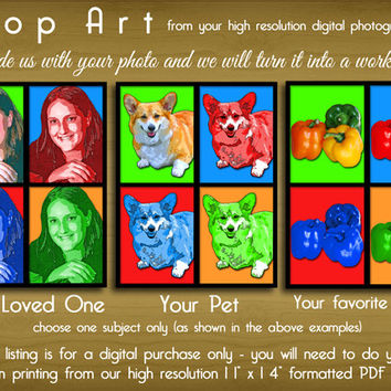 Custom Pop Art From Your Photograph