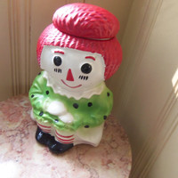 McCoy Raggedy Ann Cookie Jar Canister-1970s   RARE