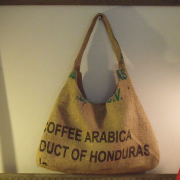 Honduras Burlap Coffee Sac Bag by BurlapDreams on Etsy