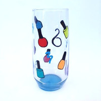 Cosmetologist, Nail Technician hand painted tumbler or wine glass