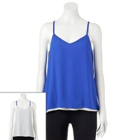 Candie's Reversible Woven Cami - Juniors, Size: X SMALL (Blue)